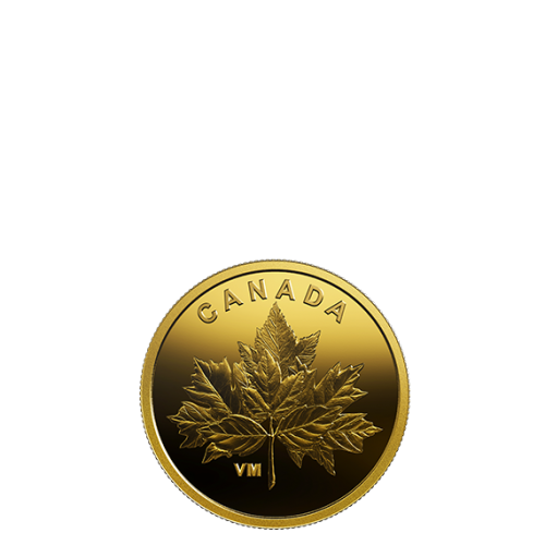 2019 Canadian 25-Cent Bouquet of Maple Leaves - 0.5g Pure Gold Coin