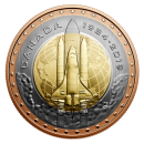 2019 (1984-) Canadian 25-Cent First Canadian in Space Tri-Metallic Coin