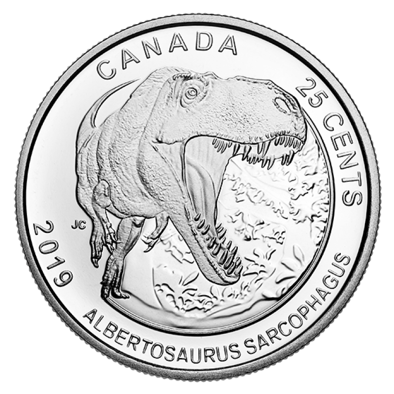 2019 Canadian 25 Cent Dinosaurs Of Canada 3 Coin Set