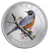 2013 25 Cent Coin - American Robin