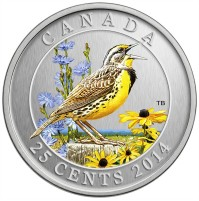 2014 25 Cent Coin - Eastern Meadowlark