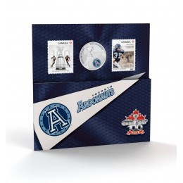 2012 Canada CFL® 25 Cent Coloured Coin & Stamp Set - Toronto Argonauts