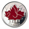 2002-P (1952-) Canadian 25-Cent Canada Day 135th Anniv/Golden Jubilee Coloured Quarter Coin Gift Card