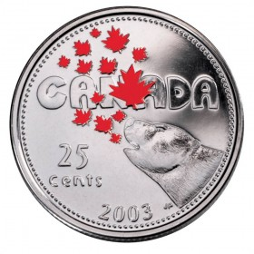 2003 Canada Day 25 Cent Coin Gift Card (Coloured)