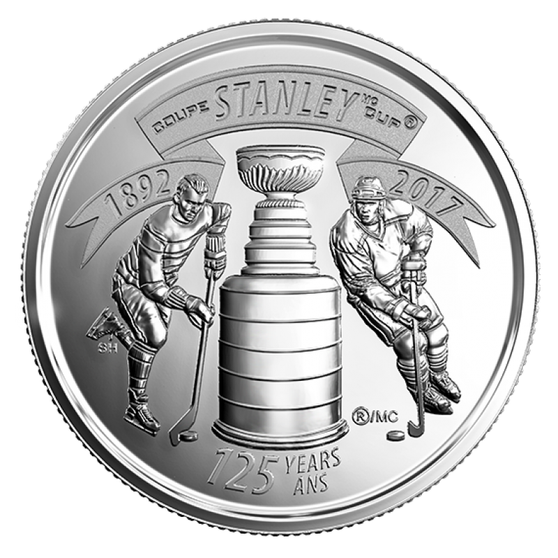 2017 Canada stanley cup  25 cent set of two UNC.