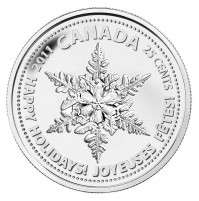 2011 Snowflake 25 Cent Coin