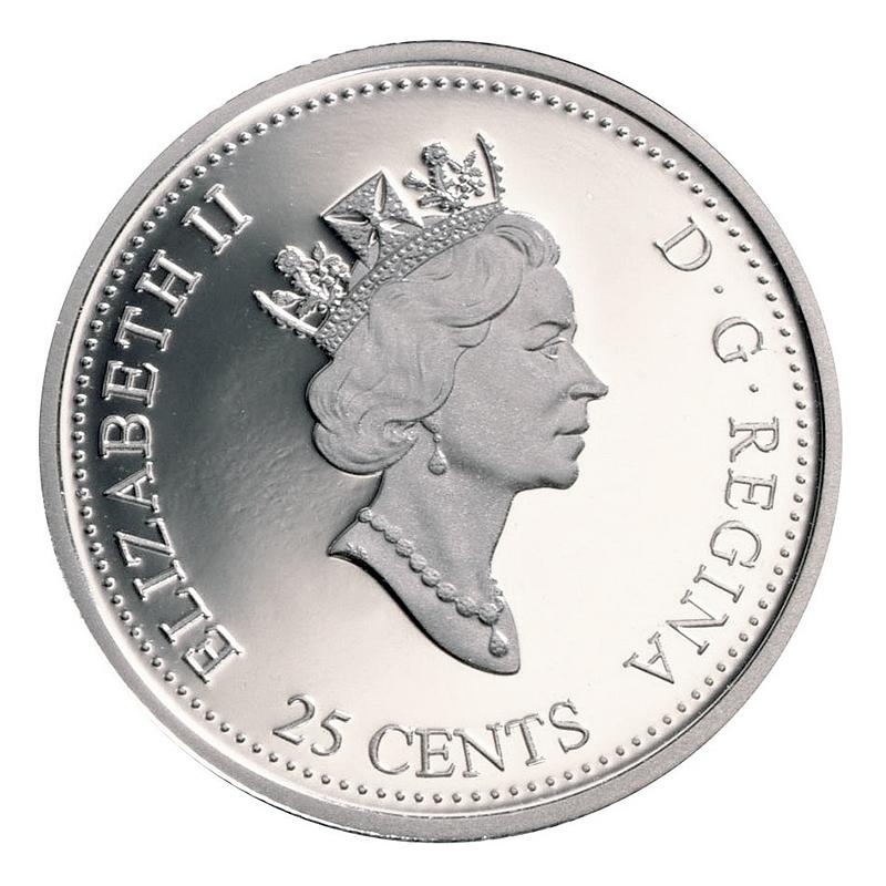 New 1999 Canada 12 Millennium 25 Cents /& Token Empty Board