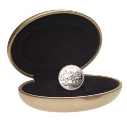 1999 Sterling Silver 25 Cent Coin - Millennium Series: March, The Log Drive