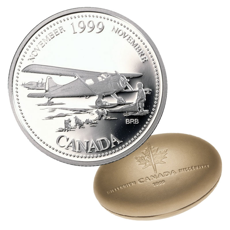 Canada 1999  ~Sterling Silver~  Proof Quarter Dollar ~NOVEMBER~