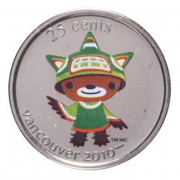 2008 Canada 25 Cent Vancouver 2010 Olympic Mascot Coin - Sumi