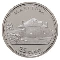 1992 (1867-) Canadian 25-Cent Manitoba Confederation 125th Anniv/Provincial Quarter Proof Sterling Silver Coin