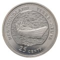 1992 (1867-) Canadian 25-Cent Newfoundland Confederation 125th Anniv/Provincial Quarter Proof Sterling Silver Coin