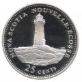 1992 (1867-) Canadian 25-Cent Nova Scotia Confederation 125th Anniv/Provincial Quarter Proof Sterling Silver Coin