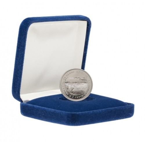 1992 (1867-) Canadian 25-Cent Prince Edward Island Confederation 125th Anniv/Provincial Quarter Proof Sterling Silver Coin