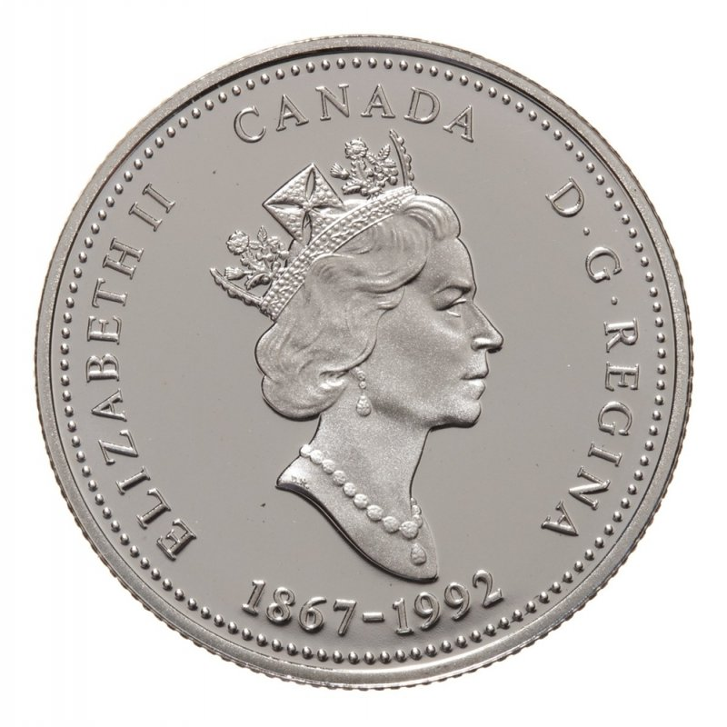 CANADA 1867-1992 ANNIVERSARY 25¢ PRINCE EDWARD ISLAND SILVER PROOF QUARTER COIN