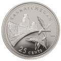 1992 (1867-) Canadian 25-Cent Saskatchewan Confederation 125th Anniv/Provincial Quarter Proof Sterling Silver Coin