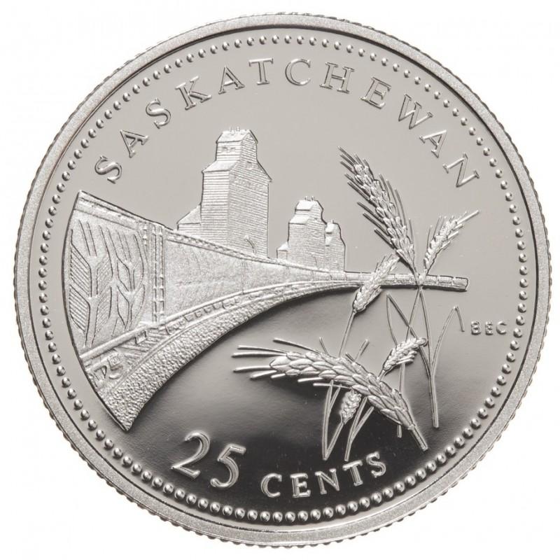 1992 1867 Canadian 25 Cent Saskatchewan Confederation