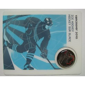 2007 Canada 25 Cents Vancouver 2010 Olympic Sports Card - Ice Hockey