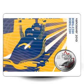 2008 Canada 25 Cent Vancouver 2010 Olympic Sports Card - Bobsleigh
