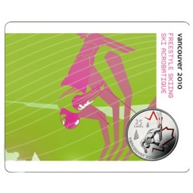 2008 Canada 25 Cent Vancouver 2010 Olympic Sports Card - Freestyle Skiing
