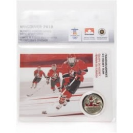 2009 Canada 25 Cents Vancouver 2010 Olympic Sports Card - Women's Hockey Team