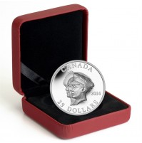 2014 Fine Silver 25 Dollar Coin - 75th Anniversary of the First Royal Visit