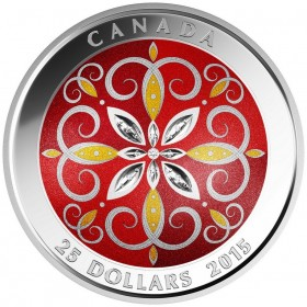 2015 Canada Fine Silver 25 Dollar Coin - Christmas Ornament