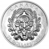 2016 Canada Fine Silver 25 Dollar Coin - Sculptural Art of Parliament: Grotesque Horned Green Man