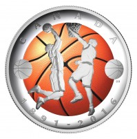 2016 Canada Fine Silver 25 Dollar Coin - 125th Anniversary of the Invention of Basketball