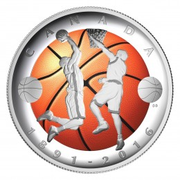 2016 Canada Fine Silver $25 Coin - 125th Anniversary of the Invention of Basketball