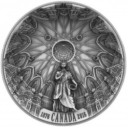 2016 Canadian $25 140th Anniversary of the Library of Parliament - Fine Silver Coin