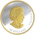 2017 Fine Silver 25 Dollar Coin - The Great Seal of Canada