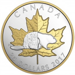 2017 Canadian $25 Timeless Icons - 1 oz Fine Silver & Gold-plated Coin