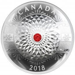 2018 Canadian $25 Classic Holiday Ornament - Fine Silver Coin