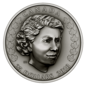2018 Canadian $25 Her Majesty Queen Elizabeth II: The New Queen 1 oz Fine Silver Coin