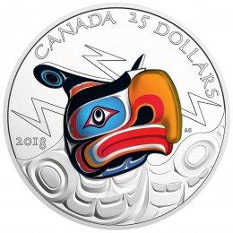 2018 Canadian $25 Thunderbird - Fine Silver Ultra-High Relief Coin