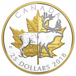 2018 Canada Fine Silver $25 Coin - Timeless Icons: Caribou