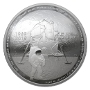 2019 (1969-) Canadian $25 Apollo 11 Moon Landing 50th Anniv Fine Silver Convex Coin