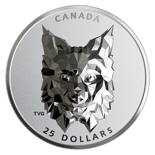 2020 Canadian $25 Multifaceted Animal Head: Lynx - 1 oz Fine Silver Extraordinarily-High Relief Coin-minor spots on Lynx