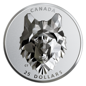 2019 Canadian $25 Multifaceted Animal Head: Wolf - 1 oz Fine Silver Extraordinarily-High