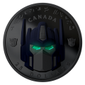 2019 Canadian $25 Transformers: Optimus Prime - Fine Silver Coloured Coin