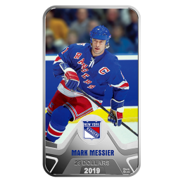 2019 Canadian $25 NHL® Original Six™: New York Rangers®, Mark Messier - 1.5 oz Fine Silver Coin