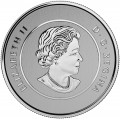 2015 Canada Fine Silver $25 Coin - $25 for $25: 50th Anniversary of the Canadian Flag
