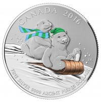 2016 Canada Fine Silver 25 Dollar Coin - $25 for $25: Winter Fun