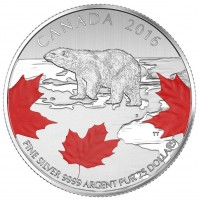 2016 Canada Fine Silver 25 Dollar Coin - $25 for $25: True North