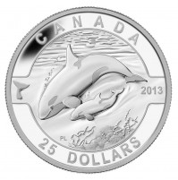 2013 Fine Silver 25 Dollar Coin - O Canada Series: The Orca