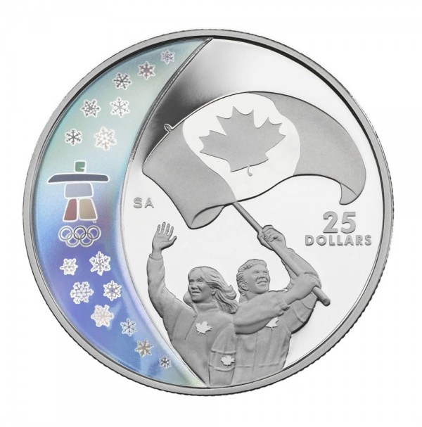 2007 Sterling Silver 25 Dollar Coin - Vancouver 2010 Olympic Winter Games: Athletes' Pride