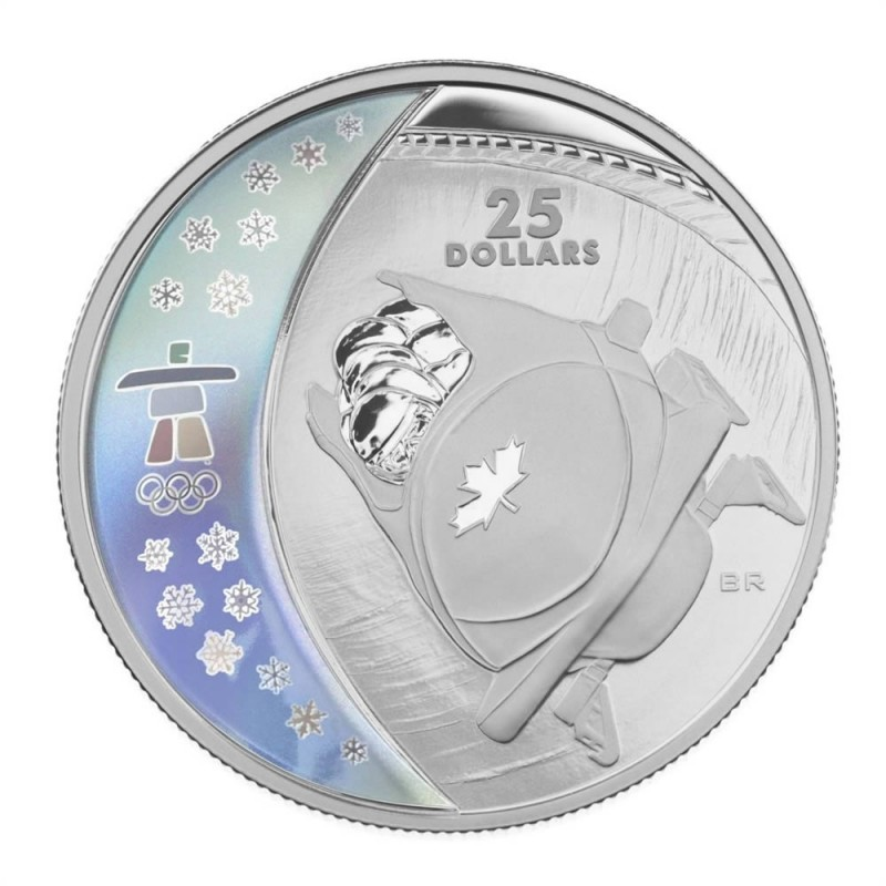2008 Canadian $25 Bobsleigh Vancouver 2010 Olympic Winter