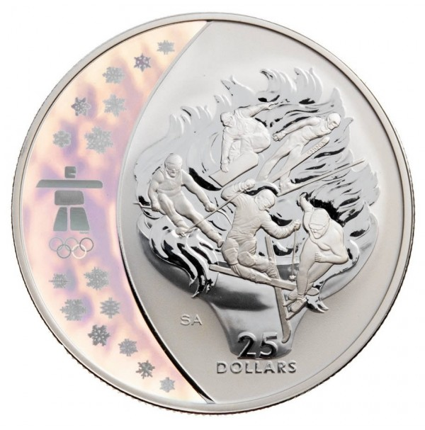 2009 Sterling Silver 25 Dollar Coin - Vancouver 2010 Olympic Winter Games: Olympic Spirit
