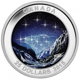 2015 Canadian $25 Star Charts: The Eternal Pursuit - Fine Silver Coin (Glow-in-the-Dark)